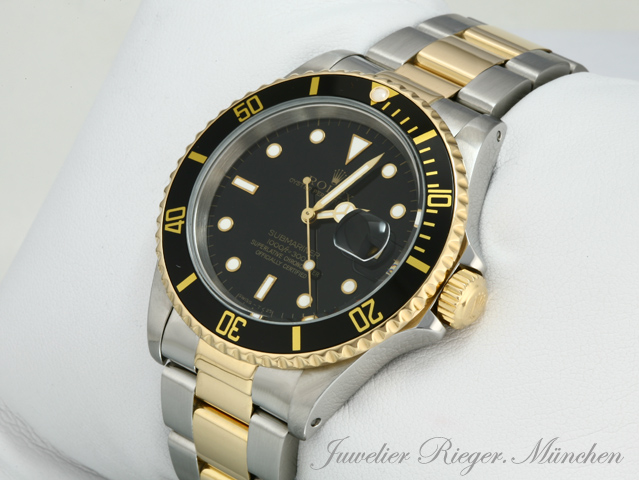 rolex uhr submariner date stahl gold automatik taucheruhr. Black Bedroom Furniture Sets. Home Design Ideas