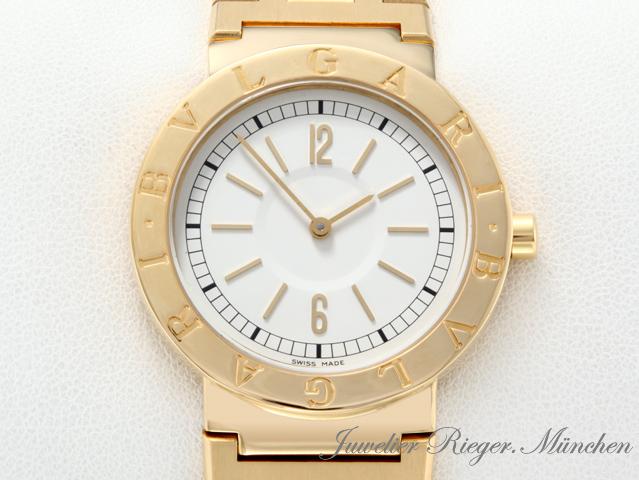 bulgari bvlgari uhr gelb gold 750 armbanduhr herrenuhr damenuhr lady medium ebay. Black Bedroom Furniture Sets. Home Design Ideas