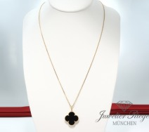 VAN CLEEF & ARPELS LANGES MAGIC ALHAMBRA COLLIER GOLD 750 ONYX VCARO49M00