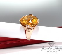 BVLGARI RING PARENTESI COCKTAIL ROSEGOLD 750 DIAMANTEN CITRIN 51