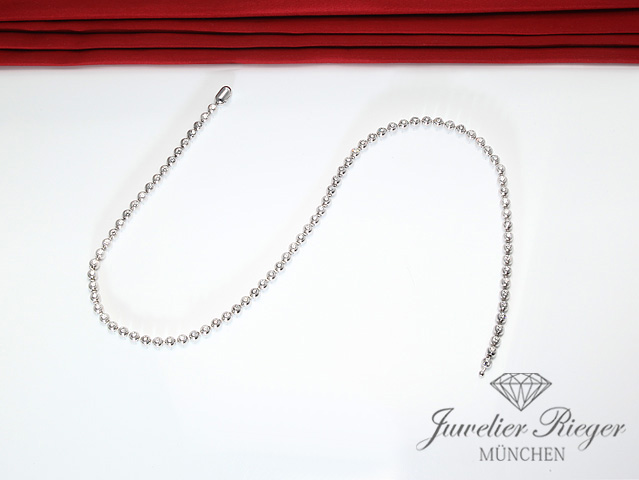 CARTIER TENNISCOLLIER DIAMANTEN BRILLANTEN CA. 4 CT. WEISSGOLD 750 COLLIER