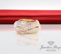 Cartier Ring Trinity LM Rotgold Weissgold Gold 750 N4210800 Diamanten Gr. 49
