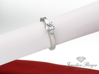 CARTIER RING SOLITäR DIAMANT 0,70CT BRILLANT PLATIN 950 GR 52 SCHMUCK VERLOBUNG