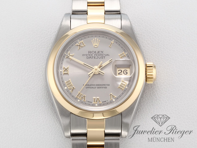 ROLEX LADY DATEJUST STAHL GELBGOLD 750 AUTOMATIK DATE JUST GOLD
