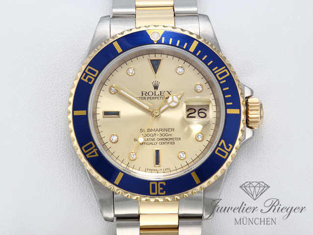rolex submariner date 16613 sultan stahl gelbgold 750. Black Bedroom Furniture Sets. Home Design Ideas