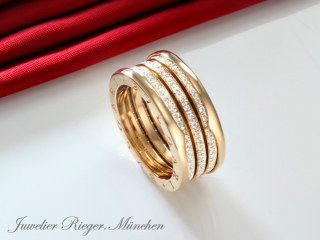BVLGARI RING B-ZERO 1 GELBGOLD 750 GR 52  BRILLANTEN AN851476 DIAMANTEN BULGARI