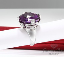 BVLGARI RING PARENTESI COCKTAIL WEISSGOLD 750 DIAMANTEN AMETHYST 54 BULGARI