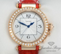 CARTIER PASHA 42 MM ROSEGOLD 750 DIAMANTEN BRILLANTEN WJ120351 GOLD DAMEN