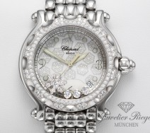 CHOPARD HAPPY SPORT SNOWFLAKE STAHL DIAMANTEN BRILLANTEN 288948 DIAMONDS