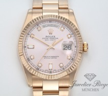 ROLEX DAY DATE 118235 ROSEGOLD 750 DIAMANTEN AUTOMATIK 36MM DAYDATE ROTGOLD GOLD