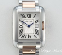 CARTIER TANK ANGLAISE EDELSTAHL ROSEGOLD 750 W5310036 DAMEN GOLD ROTGOLD