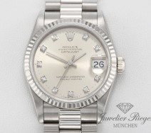 ROLEX DATEJUST MEDIUM 31 MM WEISSGOLD 750 DIAMANTEN AUTOMATIK DAMEN GOLD