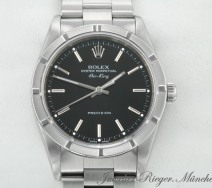ROLEX AIR KING STAHL AUTOMATIK 34 MM 14010M 2001/02 EDELSTAHL AIRKING MEDIUM