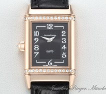 JAEGER LE COULTRE REVERSO DUETTO MEDIUM 256.2.75 ROSEGOLD 750 DIAMANTEN ROT GOLD