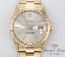 ROLEX DATE GELBGOLD 750 AUTOMATIK 34 MM 15238 MEDIUM HERREN DAMEN DATEJUST GOLD
