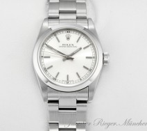 ROLEX OYSTER PERPETUAL MEDIUM 31 MM 2004 LC 100 STAHL AUTOMATIK DATE JUST LADY