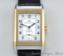 JAEGER LE COULTRE REVERSO GRANDE TAILLE STAHL GELBGOLD 750 HANDAUFZUG GOLD