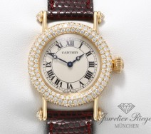 CARTIER DIABOLO LADY GELBGOLD 750 DIAMANTEN CARTIER-SERVICE DAMENUHR GOLD