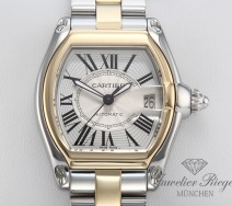 CARTIER ROADSTER MEDIUM EDELSTAHL GELBGOLD 750 AUTOMATIK LADY DAMEN HERREN GOLD