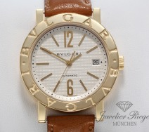 BULGARI UHR BVLGARI 38 MM BB 38 GL AUTO GELBGOLD 750 AUTOMATIK MEDIUM GOLD