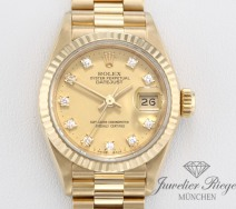 ROLEX LADY DATEJUST GELBGOLD 750 DIAMANTEN AUTOMATIK DATE JUST GOLD DAMENUHR