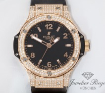 HUBLOT BIG BANG ROSEGOLD 750 DIAMANTEN 38 MM KAUTSCHUK 361.PX.1280.RX.1704 GOLD