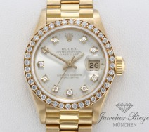 Rolex Lady Datejust Gelbgold 750 Diamanten Brillanten Automatik Date Just Gold