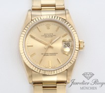 Rolex Datejust Medium 31 mm Gelbgold 750 Automatik Damenuhr Date Just Gold