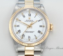 Rolex Oyster Perpetual 34 mm Stahl Gelbgold 750 Automatik Datejust Gold