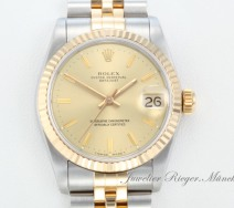 Rolex Datejust Medium 31 mm Stahl Gelbgold 750 Automatik Date Just Gold Lady