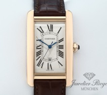 Cartier Tank Americaine Rosegold 750 Großes Modell W2609156 Automatik Gold