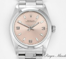 Rolex Oyster Perpetual Medium 31 mm 2002 Stahl Automatik date just lady
