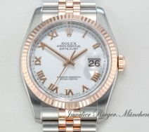 Rolex Datejust 116231 Stahl Rosegold 750 Automatik 36 mm Rotgold Gold