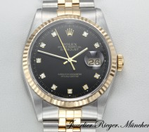 Rolex Datejust 16233 Stahl Gold 750 Diamanten Automatik 36 mm Damen