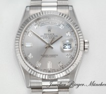 Rolex Daydate Weissgold 750 118239 Diamanten Automatik 36 mm Day Date Gold