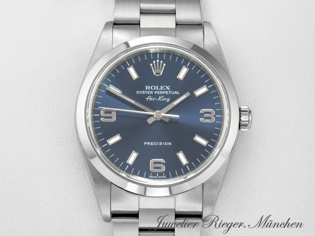 Rolex Airking 34 mm 14000M Edelstahl 2006 Automatik Air King Medium Stahl