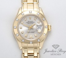 Rolex Pearlmaster 29 Datejust Gelbgold 750 Diamanten Automatik Lady Gold