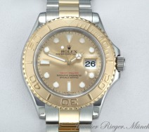Rolex Yachtmaster 16623 Stahl Gold 750 Automatik 40 mm 2011 Rehaut Yacht Master