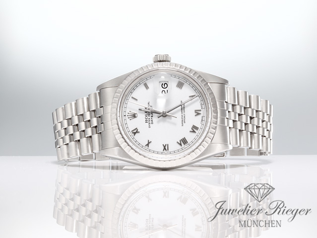 Rolex Datejust 16030 Stahl 36 mm Automatik 1988 LC100 Herrenuhr Date just