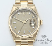 Rolex Day Date 18038 Gelbgold 750 Diamanten Automatik 36 mm Daydate Gold