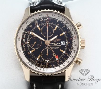 Breitling Navitimer World GMT H24322 Rosegold 750 Chronograph Automatik Gold