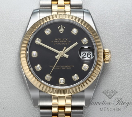 Rolex Datejust 31 mm 178273 Medium Stahl Gelbgold 750 Diamanten Automatik Gold