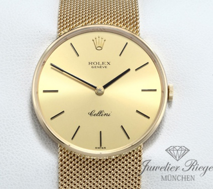 Rolex Cellini 31 mm Gelbgold 750 Handaufzug Gold Herrenuhr Damenuhr
