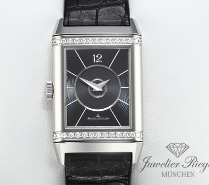 Jaeger Le Coultre Reverso Duetto Medium Stahl Diamanten 212.8.76 Lady Duoface