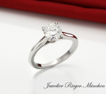 CARTIER RING SOLITäR 1895 DIAMANT 0,80 CT BRILLANT PLATIN 950 N4163600 GR.53