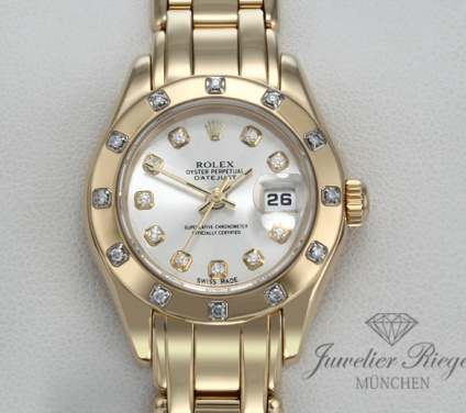Rolex Pearlmaster 29 mm Datejust Gelbgold 750 Diamanten Automatik Lady Gold