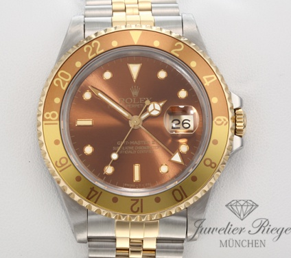 Rolex GMT-Master II 16713 Tiger Stahl Gelbgold 750 Automatik Rootbeer Gold 2