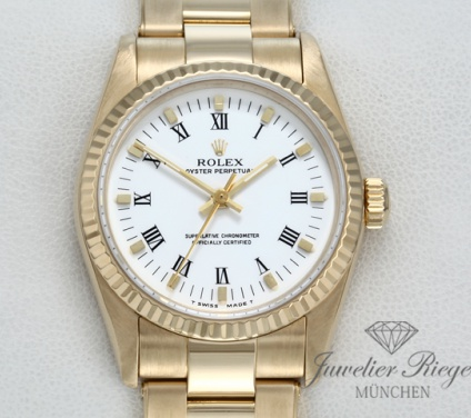 Rolex Oyster Perpetual 31 mm Medium Gelbgold 750 Automatik Datejust Gold