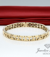 TIFFANY & CO. T TRUE ARMBAND GELBGOLD 750 GR LARGE / 17,8 CM GOLD ARMREIF