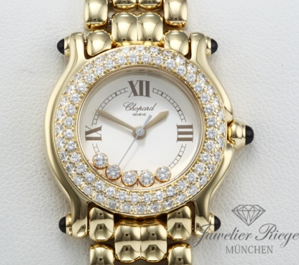 Chopard Happy Sport Lady Gelbgold 750 Diamanten 276151 Diamonds Gold